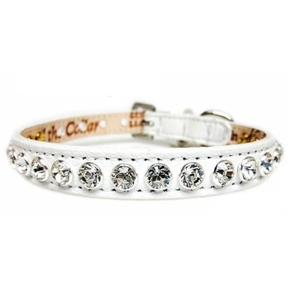 White Wedding Swarovski Crystal Dog Cat Collars