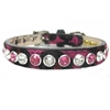 Pink Leopard with Swarovski Crystal Bling Dog Cat Collar