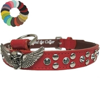 Biker Bling and Studs Leather Dog Collars