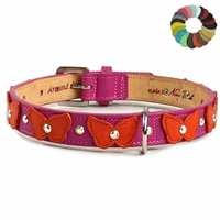 Butterflies Custom Leather Dog Collars