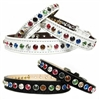 Leather Dog Cat Collars | Rainbow Bling