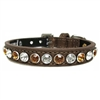 Bronze Beauty Bling Leather Designer Dog Collars