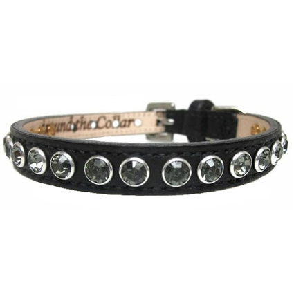 Leather Dog Collars | Black Diamond Bling