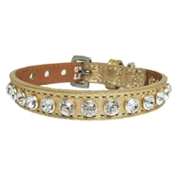 Leather Cat Collars | Golden Pussycat Bling