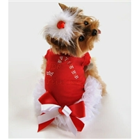 Candy Cane Princess Christmas Small Dog Dress