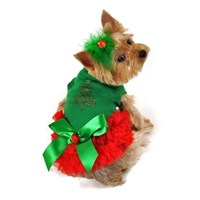 Merry Christmas Designer Dog Dress