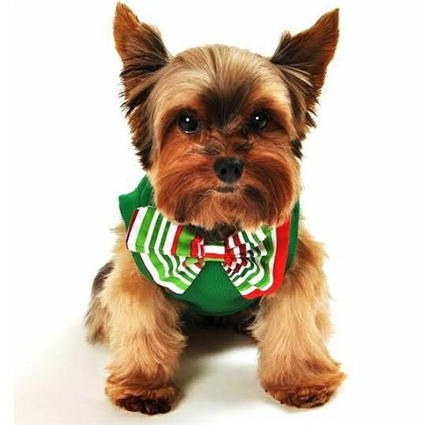 Santa's Helper Christmas Dog Shirt with bow tie