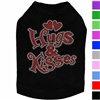 Designer Dog Shirt | Rhinestone | Hugs & Kisses