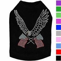 Eagle with Flags Rhinestone Dog Shirt