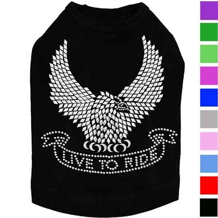 Live To Ride Dog T-shirt