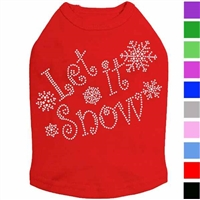 Let it Snow Rhinestone Dog Shirt