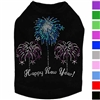 Happy New Year Rhinestone Dog Shirt