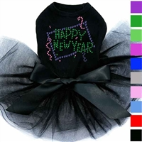 Happy New Year Rhinestone Dog Dress