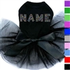 Rhinestone Custom Name Dog Tutu Dress