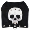 Silver Skull Leather Designer Dog Harness Vest