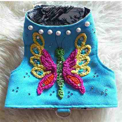 Butterfly Bling Designer Small Dog Harness