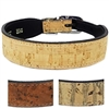 Cork with Chain Link Designer Dog Collar