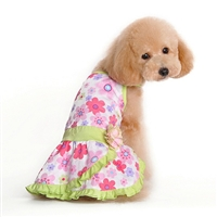 Sweet Summer Flowers Small Dog Dress