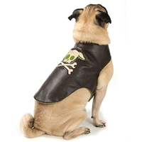 Dog Skull Jacket - Imitation Leather
