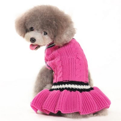 Schoolgirl Small Dog Sweater Dress