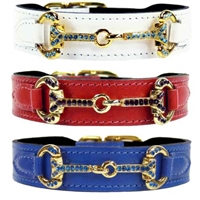 Patent Leather Dog Collar | Crystal Bit
