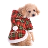 Santa Plaid Designer Dog Coat