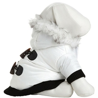Small Dog Coat | White Parka with Thinsulate