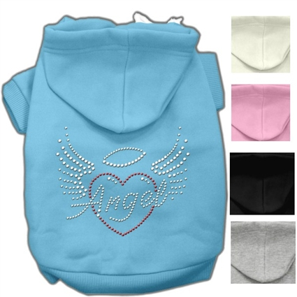 Angel Winged Heart Designer Dog Hoodie