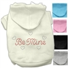 Be Mine Designer Dog Hoodie for Valentines Day