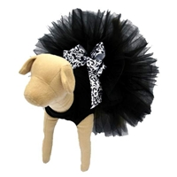 Classic Elegance Designer Dog Tutu with bow