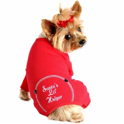 Thermal  Dog Onesie Pajamas | Santa's Lil Helper