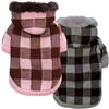 Checkered Designer Dog Sweater Coat