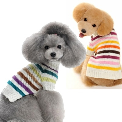 Colorful Stripes Small Dog Sweater