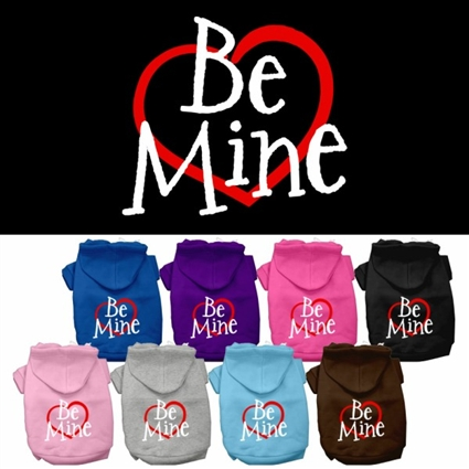 Be Mine Screen Print Dog Hoodie
