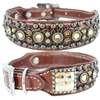 Western Leather Dog Collar | Crystals, Studs, Embossed Gator