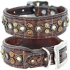 Monroe Petite Western Leather Dog Collar