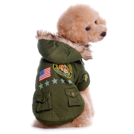 US Army Designer Dog Coat Jacket