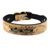 Designer Dog Collar | Natural Cork