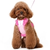 Pink Polka Dots Small Dog Harness with leash