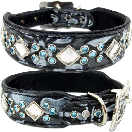 Elsa Petite Western Leather Dog Collar
