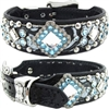 Western Leather Dog Collar | Elsa Gator, Studs and Bling