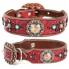 Red Leather Large Dog Collar | Buddy