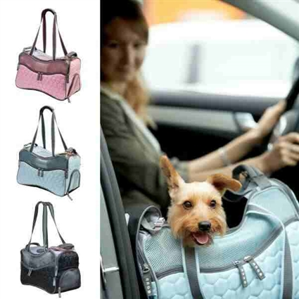 Quilted Dog Cat Purse Tote Carrier - Airline Approved