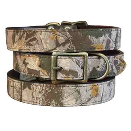 Camouflage Suede Leather Dog Collars