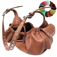 Sling Leather Dog Carrier, Purse with Studs
