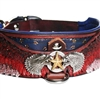 Eagle Wings Leather Dog Collar
