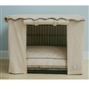 Stone Beige Dog Crate Cage Cover Bed Set