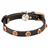 Leather Small Dog Cat Collar  | Sandstone Gemstones