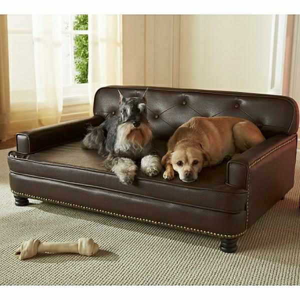 Library Large Dog Sofa Bed Faux Leather