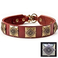 Designer Leather Dog Collars | Charlie